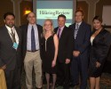 Presenters and sponsors at the CareCredit/HR State of the Industry Dinner included Amyn Amlani, PhD, of the University of North Texas; HR's editor Karl Strom and publisher Dana Fisher; Dan Quall, MS, of Starkey Hearing Technologies; Brian Taylor, AuD, of Unitron; and Amber Jacquez of CareCredit.
