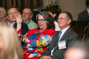 Audience members included Brian Taylor, AuD, Barbara Weinstein, PhD, and Bob Tysoe.