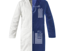 The SCOTTeVEST Lab Coat showing hidden pockets for gadgets and tools.