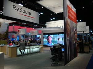 GN ReSound's AAA 2015 exhibit booth