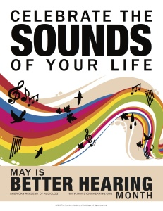 AAA poster for Better Hearing and Speech Month