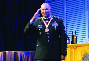 Staff Sargeant (ret) Shiloh Harris told of his recovery from wounds he received in the War in Iraq and how audiologists and hearing aids played an important role in his life.