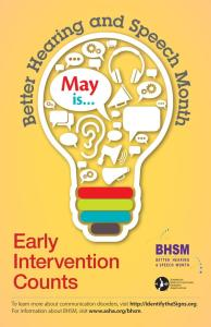 Early Intervention Counts, ASHA