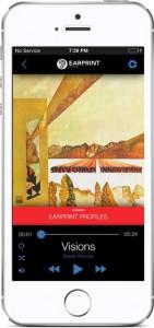 Earprint for smart phones